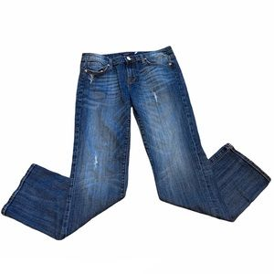 Vigoss London Straight Leg Distressed Jeans